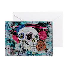 Sugar Skull and Roses Greeting Card