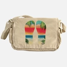 Tropical Beach Messenger Bag