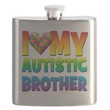 I Love My Autistic Brother Flask