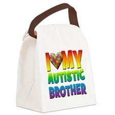 I Love My Autistic Brother Canvas Lunch Bag