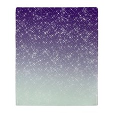 Sparkling Purple Throw Blanket