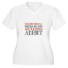 Warning: Redhead Actress T-Shirt