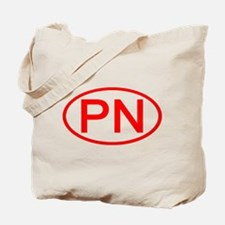 PN Oval (Red) Tote Bag