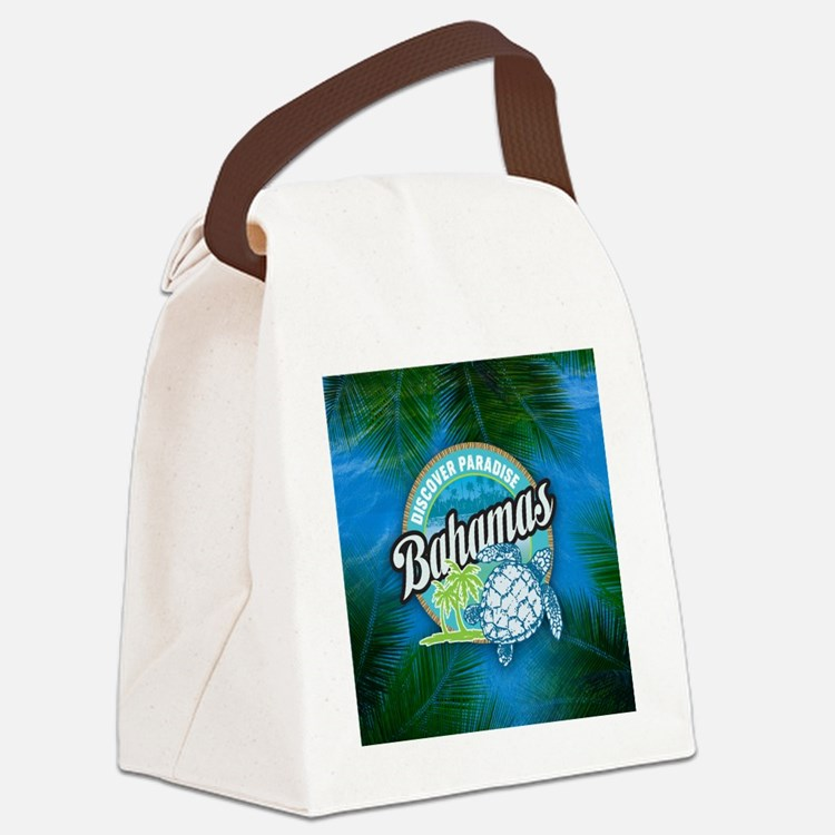 Discover Paradise in Bahamas Canvas Lunch Bag