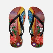 Virgin of Guadalupe Flip Flops