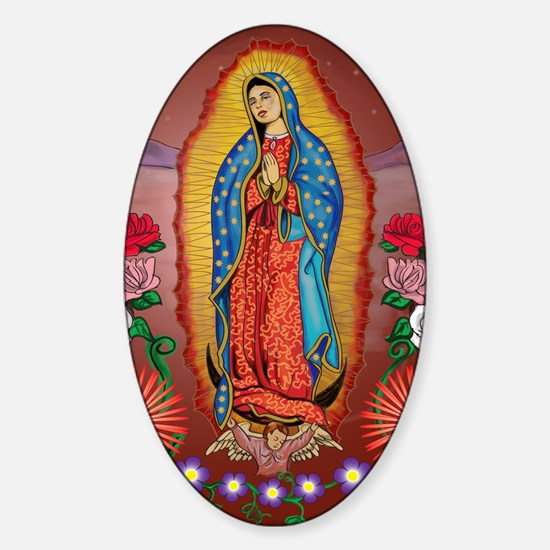 Virgin of Guadalupe Sticker (Oval)