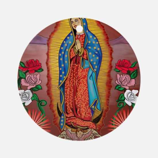 Virgin of Guadalupe Round Ornament