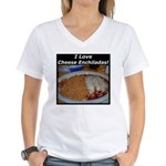 I Love Cheese Enchildas Women's V-Neck T-Shirt