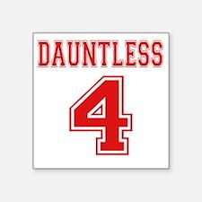 """Dauntless 4 Tobias Jersey Square Sticker 3"""" x 3"""""""
