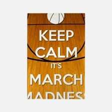 Keep Calm It's March Madness Rectangle Magnet