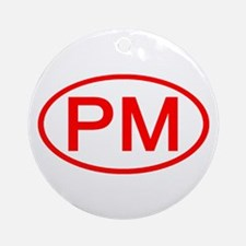 PM Oval (Red) Ornament (Round)