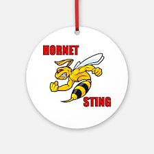 Hornet Sting Round Ornament