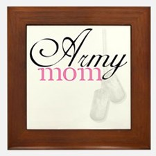 Army Mom (Black  Pink) Framed Tile
