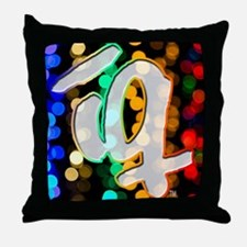 IQ v4 blurred colorful lights Throw Pillow