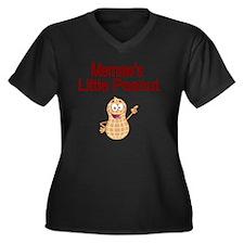 Memaws  Litt Women's Plus Size Dark V-Neck T-Shirt