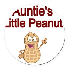 Aunties  Little Peanut Round Car Magnet