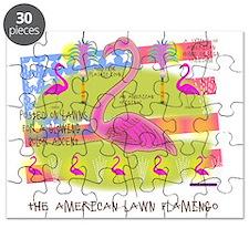 Flamingo Lawn Art Puzzle