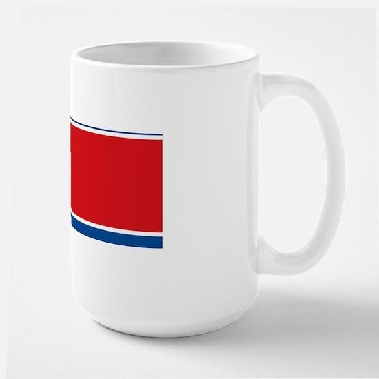 north-korea-flag_full_9x18 Large Mug