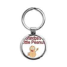 Grandpas  Little Peanut Round Keychain