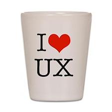 I heart UX Shot Glass