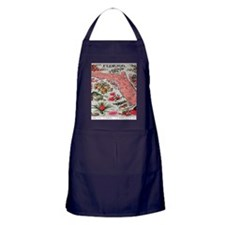 Vintage Florida Map with Fruit and Fl Apron (dark)