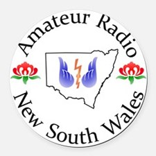Amateur Radio NSW Logo Round Car Magnet