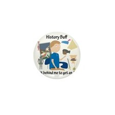 History Buff Mini Button