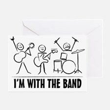 stickman band Greeting Card
