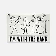 stickman band Rectangle Magnet