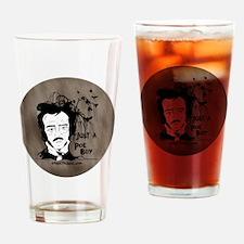 Funny Edgar Allen Poe Drinking Glass