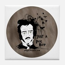 Funny Edgar Allen Poe Tile Coaster