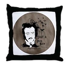 Funny Edgar Allen Poe Throw Pillow