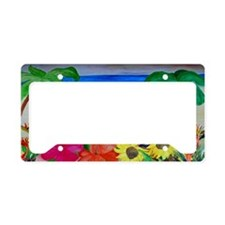 Flowers and Flip Flops Beach License Plate Holder