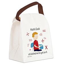 Math Geek Canvas Lunch Bag