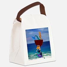 Mermaid Wine Canvas Lunch Bag