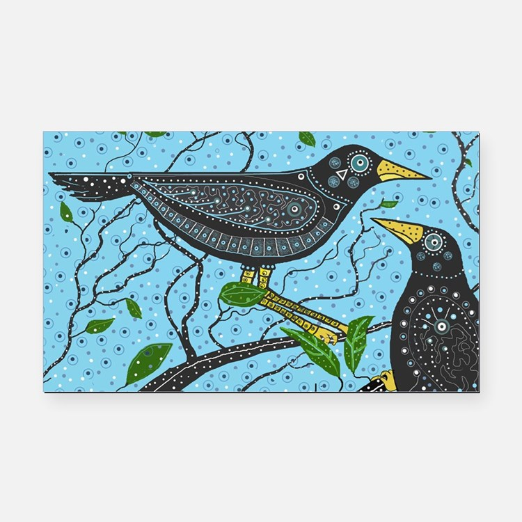Crows Rectangle Car Magnet