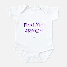 'Feed Me!' (purple text) Infant Bodysuit/Creeper