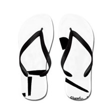 Yoga Warrior Pose Flip Flops