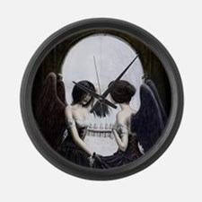 meeting of the dark angels Large Wall Clock
