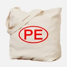 PE Oval (Red) Tote Bag