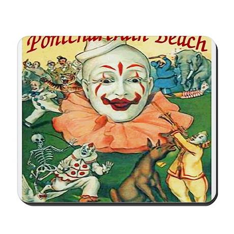 Vintage Pontchartrain Beach Clown Mousepad