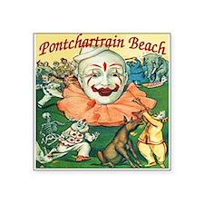 "Vintage Pontchartrain Beach Square Sticker 3"" x 3"""