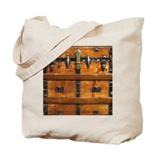 Vintage Wood Steamer Trunk Steam Punk Tote Bag