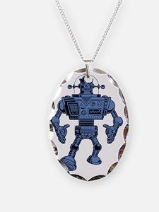 robot-313-bluT Necklace