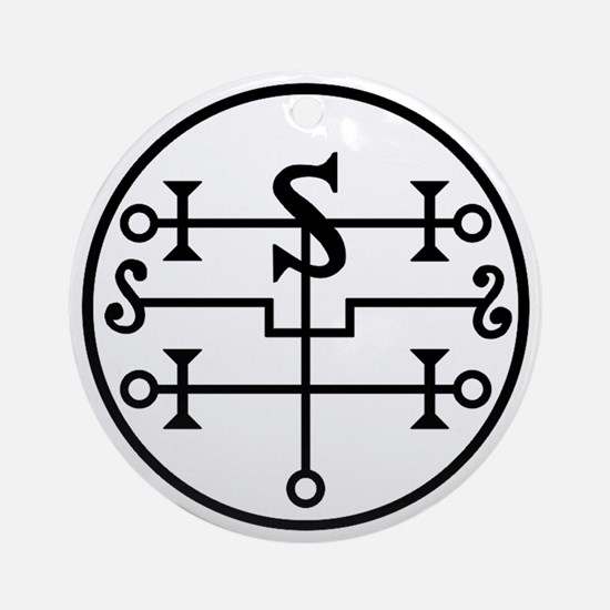 Vector Seal of Andromalius Round Ornament