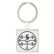 Vector Seal of Andromalius Square Keychain