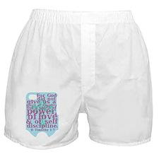 II Timothy 1:7 Boxer Shorts