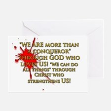 """""""WE ARE more than a conqueror""""  Greeting Card"""