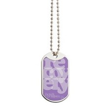 Purple Recovery Dog Tags
