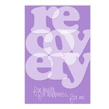 Purple Recovery Postcards (Package of 8)